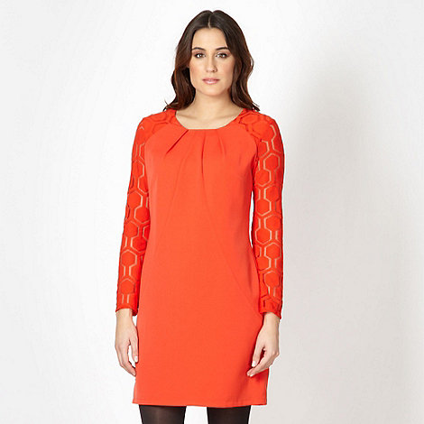 Principles by Ben de Lisi - Designer orange hexagon sleeve dress