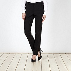 Principles by Ben de Lisi - Designer black popper tab detail trousers