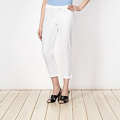 Principles by Ben de Lisi - Designer white tapered leg trousers