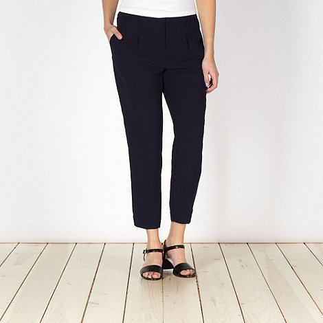 Principles by Ben de Lisi - Designer navy soft gathered trousers