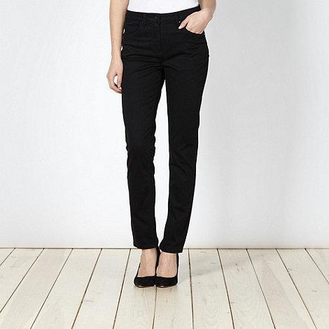 Principles by Ben de Lisi - Designer black brushed cotton trousers