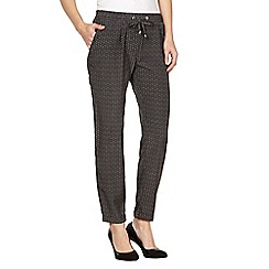 Principles by Ben de Lisi - Designer black lace print woven trousers