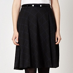 Principles by Ben de Lisi - Designer black checked full skirt