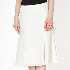 Principles by Ben de Lisi - Designer ivory pleated flared skirt
