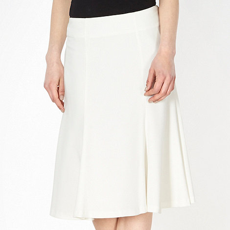 Principles by Ben de Lisi - Designer ivory pleated flared skirt