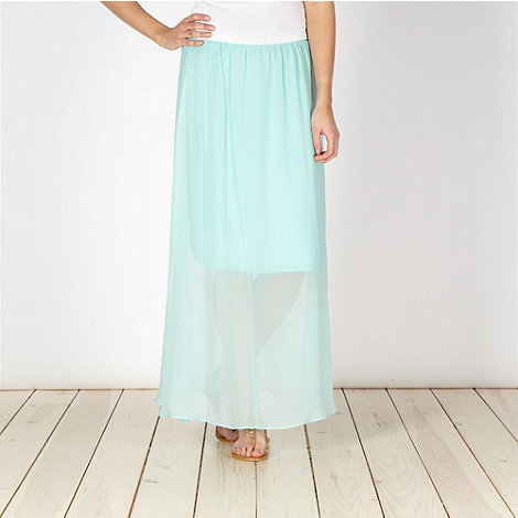 Principles by Ben de Lisi - Designer pale green green split maxi skirt