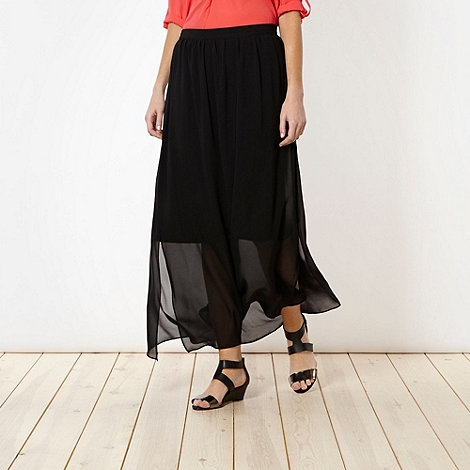 Principles by Ben de Lisi - Designer black split maxi skirt