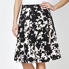 Principles by Ben de Lisi - Designer pale pink shadow flower prom skirt