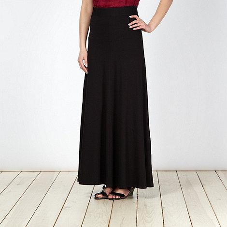 Principles by Ben de Lisi - Designer black jersey maxi skirt