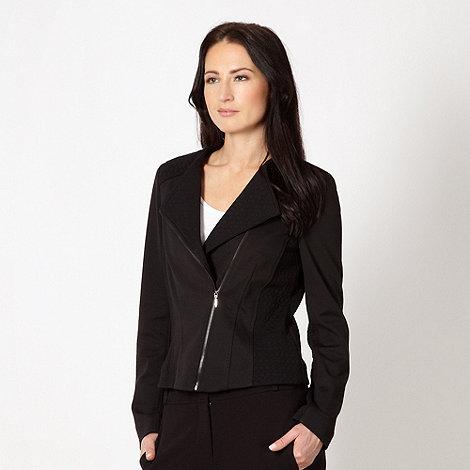 Principles by Ben de Lisi - Designer black textured side zip jacket