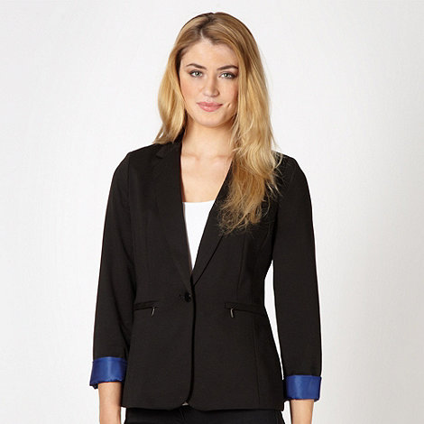 Principles by Ben de Lisi - Designer black zip pocket blazer