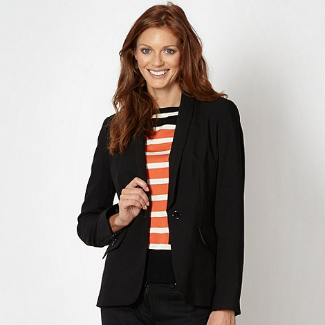 Principles by Ben de Lisi - Designer black zip cuff suit jacket