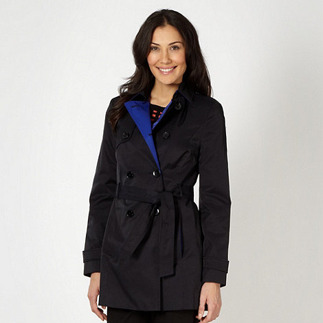 Principles by Ben de Lisi - Designer navy contrast trim mac coat