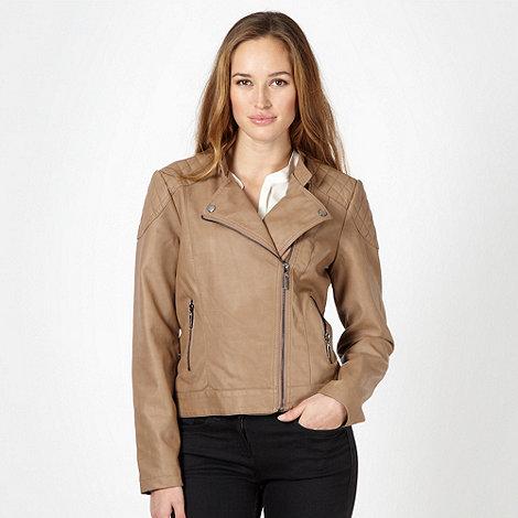 Principles by Ben de Lisi - Designer tan quilted side zip jacket