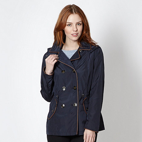 Principles Petite by Ben de Lisi - Petite navy double breasted short coat