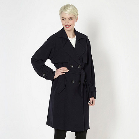 Principles by Ben de Lisi - Designer navy double breasted trench coat