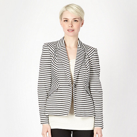 Principles by Ben de Lisi - Designer black textured striped jacket
