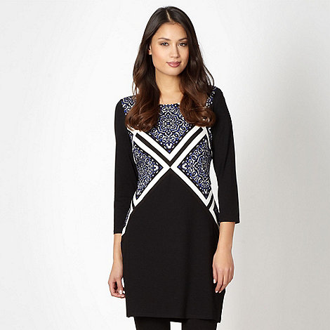 Principles by Ben de Lisi - Designer black tiled print tunic