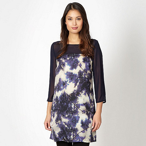 Principles by Ben de Lisi - Designer navy graphic blossom patterned tunic