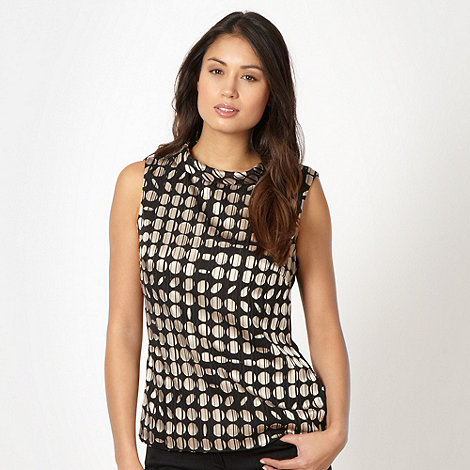 Principles by Ben de Lisi - Designer black spot textured top