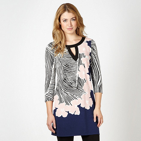 Principles by Ben de Lisi - Designer navy floral tunic