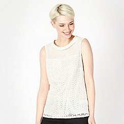 Principles by Ben de Lisi - Designer ivory roll collar lace top