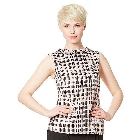 Principles by Ben de Lisi - Designer pink roll collar top