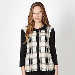 Principles by Ben de Lisi - Designer black checked collar top
