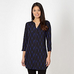 Principles by Ben de Lisi - Designer black woven checked tunic