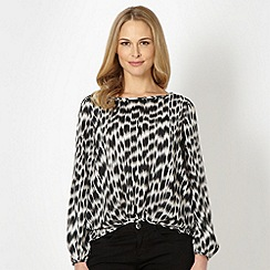 Principles by Ben de Lisi - Designer black animal print chiffon blouse
