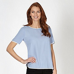 Principles by Ben de Lisi - Designer mid blue tipped keyhole shell top
