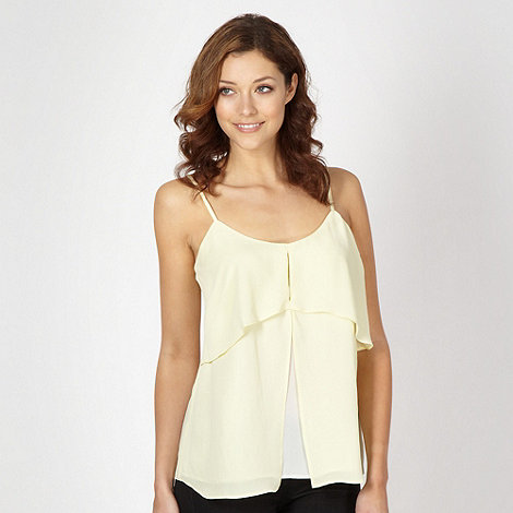 Principles by Ben de Lisi - Designer yellow double layer cami