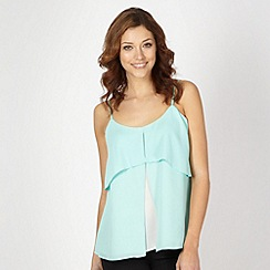 Principles by Ben de Lisi - Designer pale green double layer cami