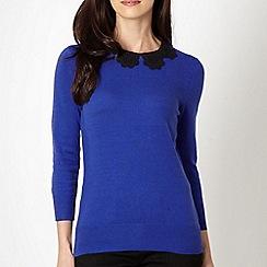 Principles by Ben de Lisi - Designer royal blue lace collar jumper