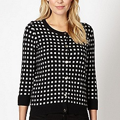 Principles by Ben de Lisi - Designer black mini checked cardigan