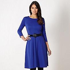 Principles by Ben de Lisi - Designer royal blue belted skater dress