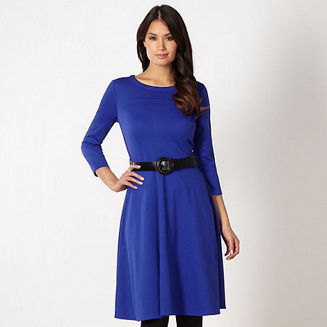 Principles by Ben de Lisi - Designer royal blue belted skater dress