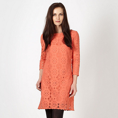Principles by Ben de Lisi - Designer orange lace shift dress