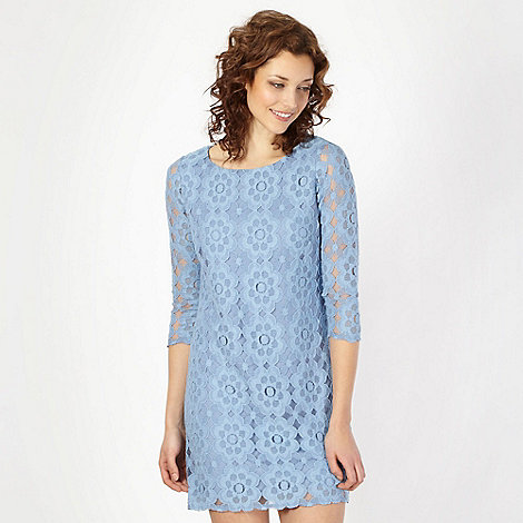 Principles by Ben de Lisi - Designer mid blue lace tunic dress