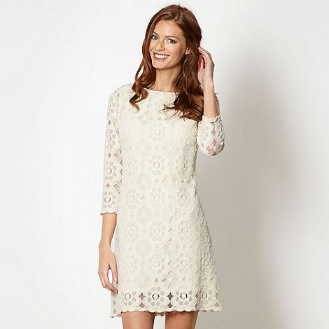 Principles by Ben De Lisi - Designer ivory floral lace shift dress