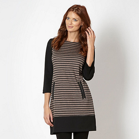 Principles by Ben de Lisi - Designer black striped tunic dress