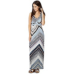 Principles by Ben de Lisi - Designer mid blue aztec maxi dress