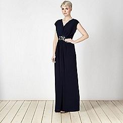 Principles by Ben de Lisi - Designer navy jewel trim maxi dress