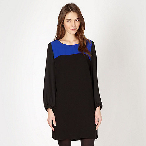 Principles by Ben de Lisi - Designer black long sleeve chiffon dress