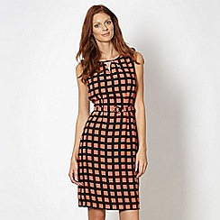 Principles by Ben de Lisi - Designer orange square print dress