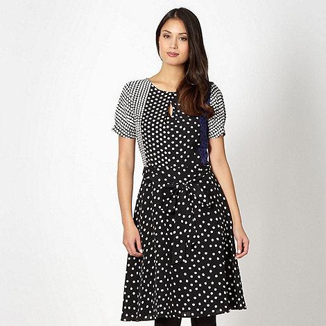 Principles by Ben de Lisi - Designer black mixed spot panel dress