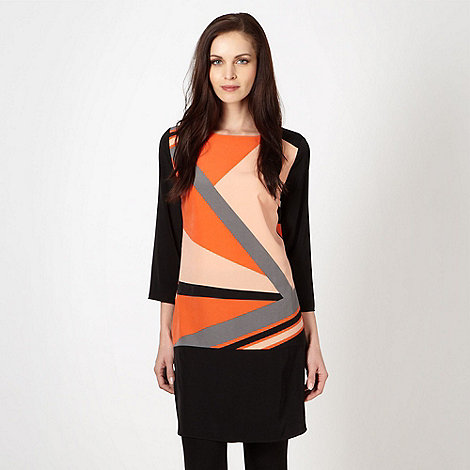 Principles by Ben de Lisi - Designer orange colour graphic tunic dress