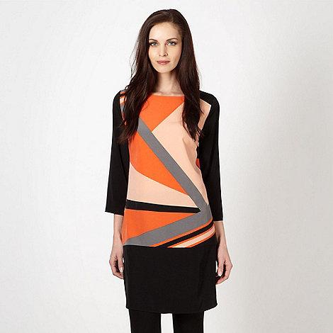 Principles by Ben de Lisi - Designer orange colour graphic tunic dress