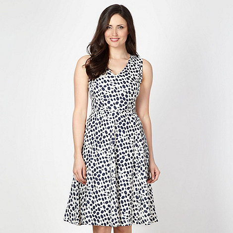 Principles by Ben de Lisi - Designer navy spotted flared dress