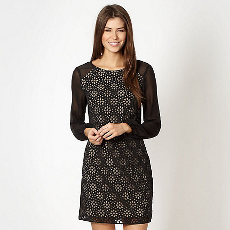 Principles by Ben de Lisi - Designer black daisy burnout shift dress